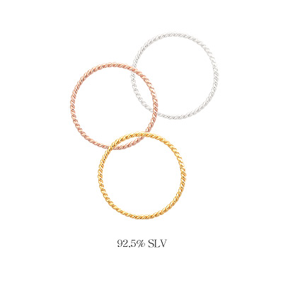 1044013 - <RI505_AD06> [Silver] whipping twist ring