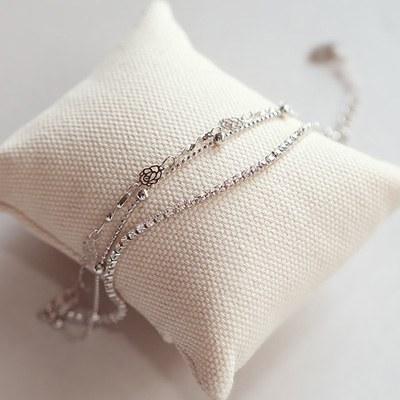 1044171 - <BC486_HB10> Rosemary cubic bracelet
