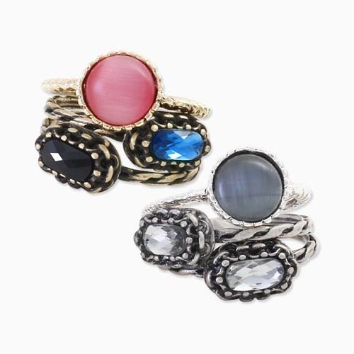 1045737 - <RI716_JG23> [3Piece 1set] performance gemstone ring