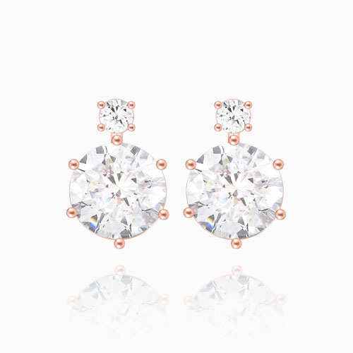 1046486 - <ER1530_DJ07> [Silver Post] lucy cubic earrings