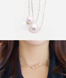 8062 - <SL413A-BE01> [Goddess of marriage] [Silver] snow jelly pearl necklace