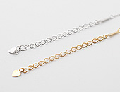 10307 - [Silver] free chain 5cm (tail chain)