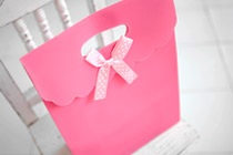 223492 - [For hairband] dot ribbon Gift Bag