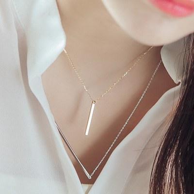 1043587 - <NE225-BA09> Plain stick necklace