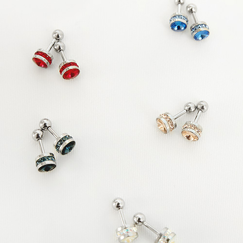 1047207 - <ER1790_GK11> [sold by pair] coy piercing