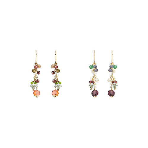 1047211 - <ER1785_DK04> [spring] [handmade] Glen cubic earrings