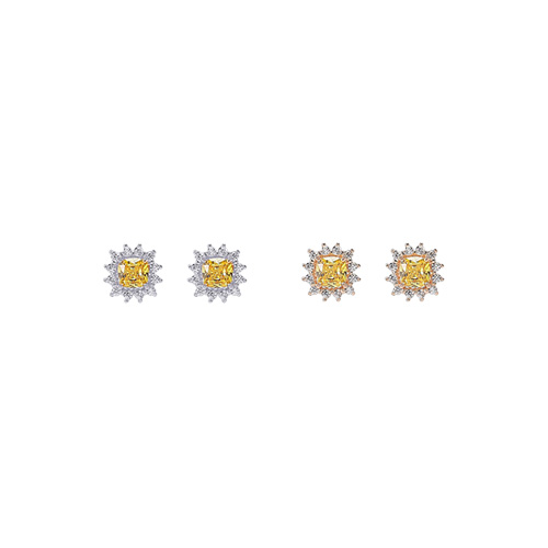 1047214 - <ER1792_DI21> [Silver] Cappel cubic earrings