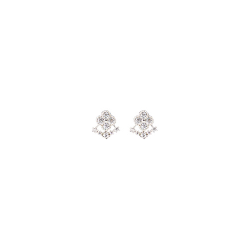 1047219 - <ER1796_DD03> [Silver Post] Mini hunts earrings
