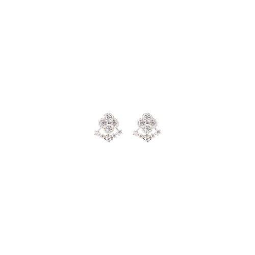 1047219 - <ER1796_DD03> [Silver Post] Mini hunting earrings