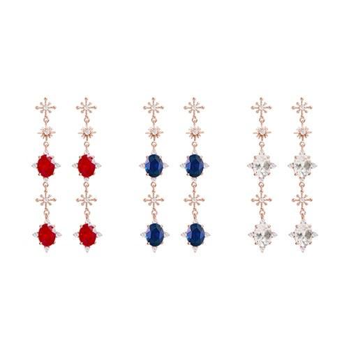 1047227 - <ER1802_DI16> [Silver Post] Shatren cubic long earrings