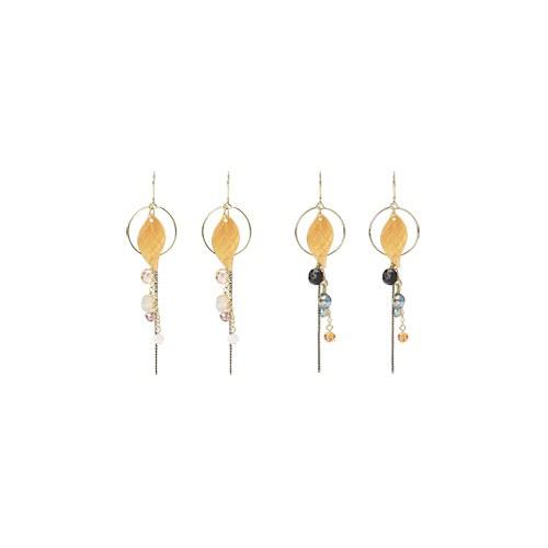 1047230 - <ER1789_DG04> [spring] [Handmade] Konoma Leaf earrings