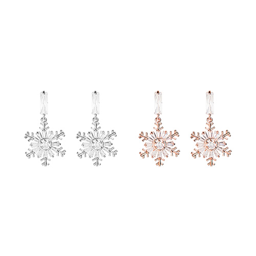 1047235 - <ER1798_DK10> [clip type] Kerry snow flower earrings