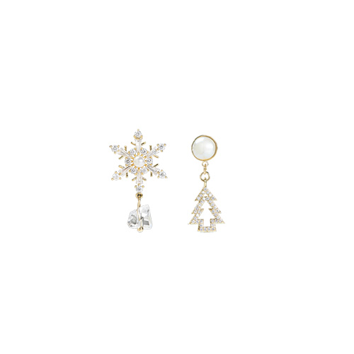 1047249 - <ER1810_DB08> [Silver Post] Unbalanced earrings