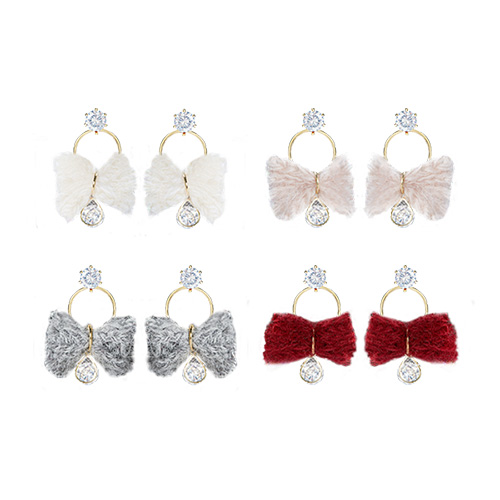 1047254 - <ER1813_DD22> Kato ribbon earrings