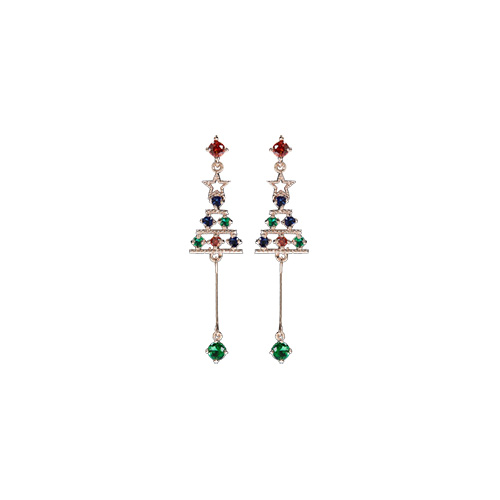 1047256 - <ER1809_DD08> [clip type] tree star cubic earrings