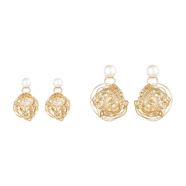 1047257 - <ER1808_CE13> [clip type] Jody pearl two-way earrings