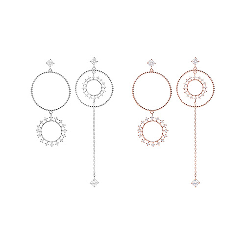 1047261 - [Silver Post] Eternal Unbalanced Earrings