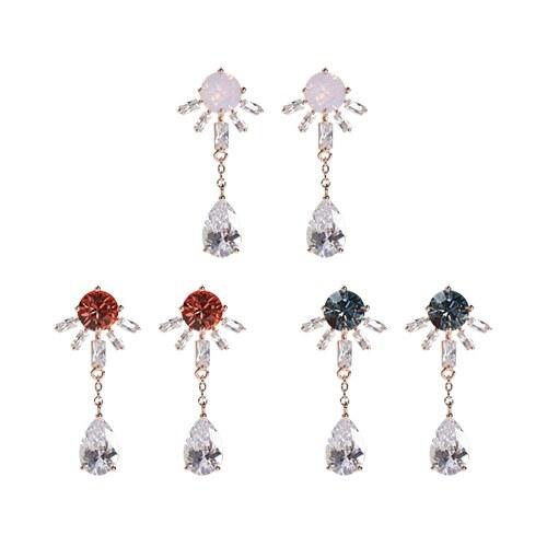 1047262 - [Silver Post] apple earrings