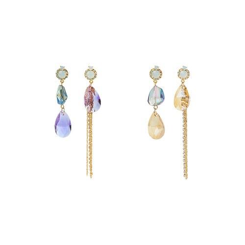 1046845 - <ER1639_CF07> Olivill cubic earrings