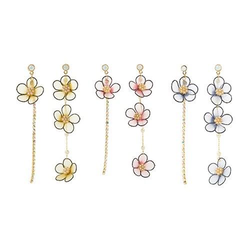 1046851 - <ER1642_CC09> Weillan Unbalanced earrings