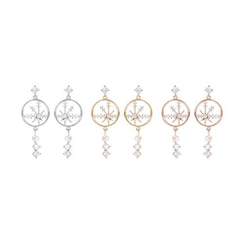 1047273 - <ER1817_DG03> [clip type] Vera snow cubic earrings