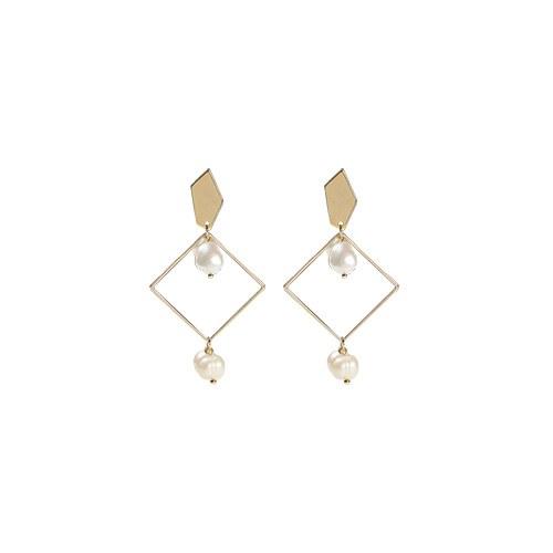 1047288 - <ER1814_CG06> [clip type] hart square earrings
