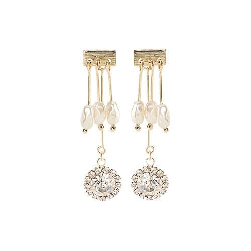 1047295 - Rosa pearl two-way earrings