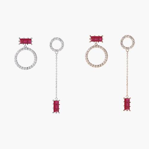1047318 - [Silver Post] Pia Unbalanced earrings