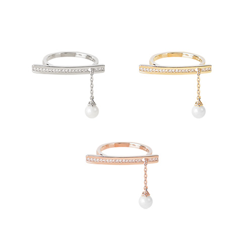 1047322 - Mode stick chain pearl ring