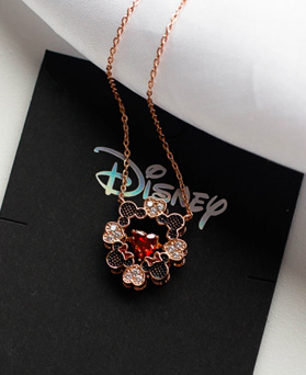 1049363 - <NE589_IG16> [Disney Genuine] Mickey Mini heart necklace