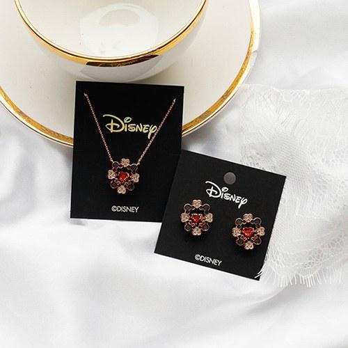 1049364 - <JS350_IG16> [earrings + necklace] [Disney Genuine] Mickey Mini heart set