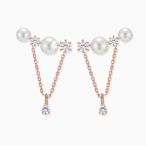1045551 - <ER1263_GL28> [Silver Post] arte pearl drop earrings