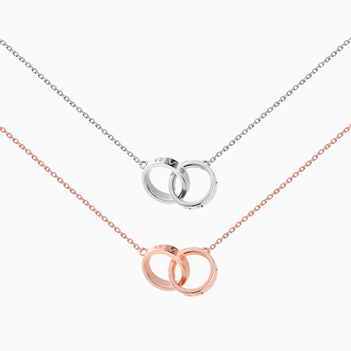 1046376 - <NE447_IG12> [Same Day Shipping] double ring necklace