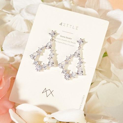 1047339 - <ER1850_DJ14> [Silver Post] Ebina earrings