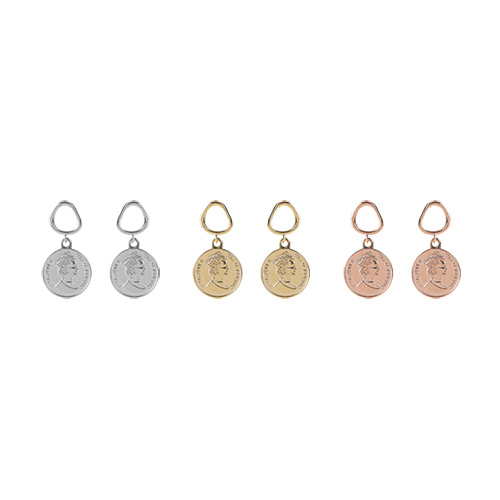1047341 - <ER1837_DK19> [spring] Noel coin earrings