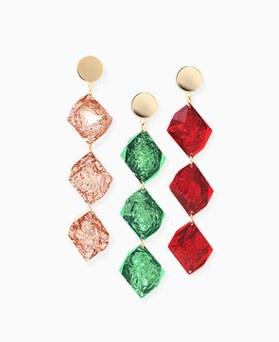 1046271 - <ER1471_CD14> pearl shine glass drop earrings
