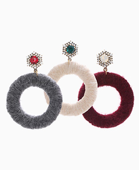 1046427 - <ER1442_CB05> [Silver Post] atalanta big earrings