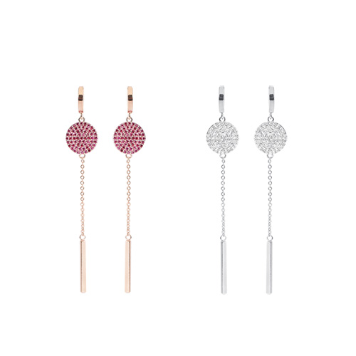 1047354 - <ER1839_CH12> [spring] catcher chain earrings
