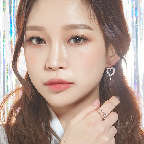 1047372 - <ER1863_DL13> [Silver Post] Alice cubic earrings