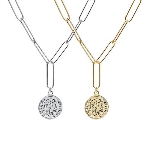 1047383 - <NE516_BA10> Aria coin chain necklace