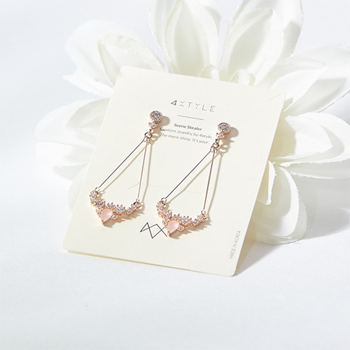 1047386 - <ER1853_DL09> [clip type] lameid earrings