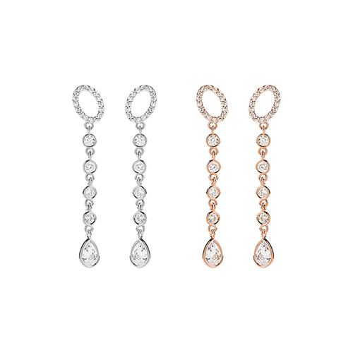 1047390 - [Silver Post] Regina cubic earrings