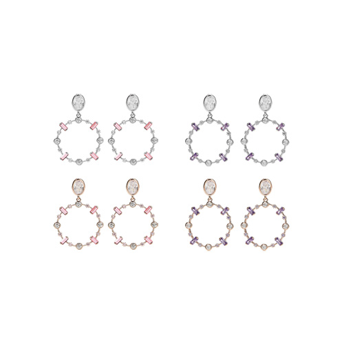 1047402 - <ER1878_DL01> [Silver Post] View Needs round earrings