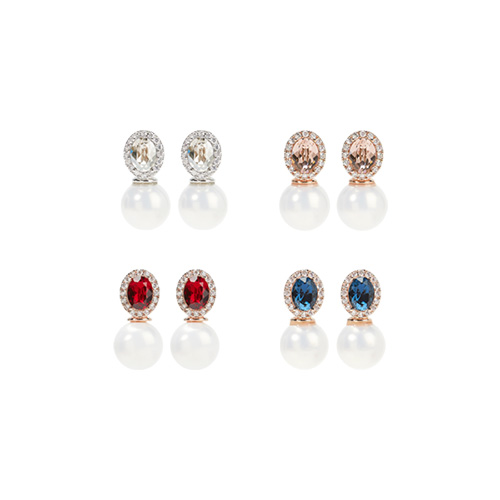 1047418 - <ER1886_DA02> [Swarovski] [Silver Post] marry me Swarovski earrings