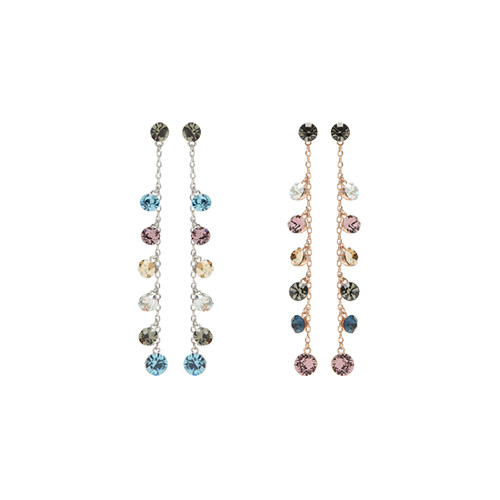 1047423 - <ER1891_DA23> [Swarovski] [Silver Post] bala twinkle earrings