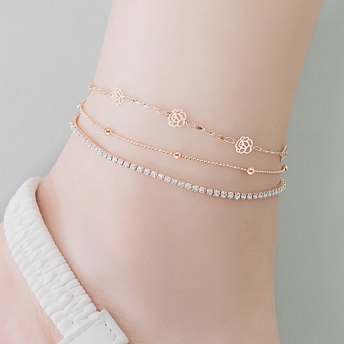 1045869 - <BC693_HF13> [Same day release] rosemary cubic anklet