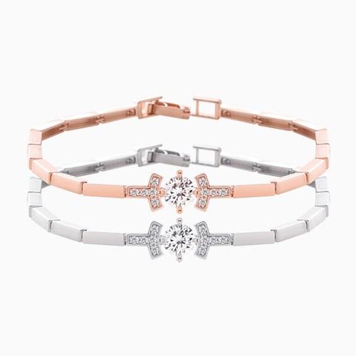 1046053 - <BC699_HG12> Bailey square line bracelet