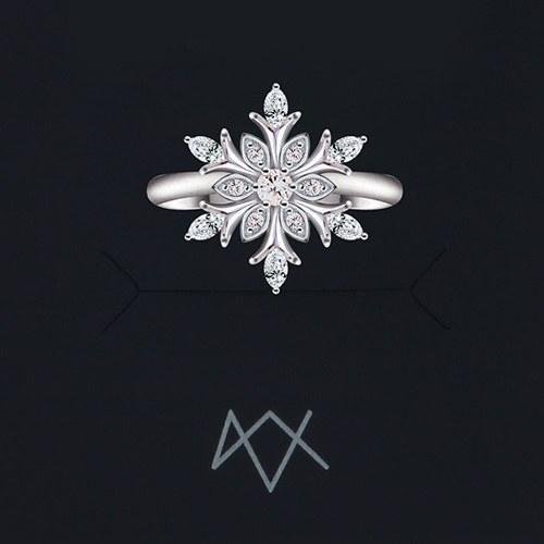 1046480 - <RI750_IG20> [Same Day Shipping] Venetian snow flower ring
