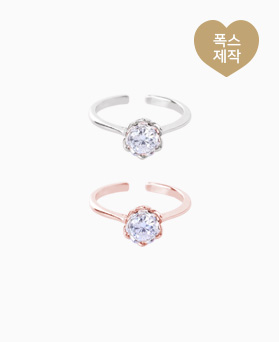 1046527 - <RI760_AC15> [Same Day Shipping] Brenda cubic ring