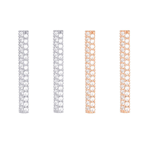 1046721 - <ER1599_DL15> [Silver] Elisa stick earrings